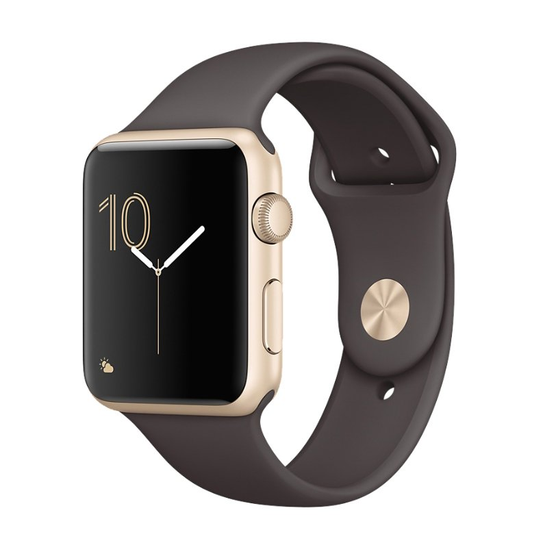 Apple Watch Series 2 42mm Aluminum Case with Sport Band(Cacao)