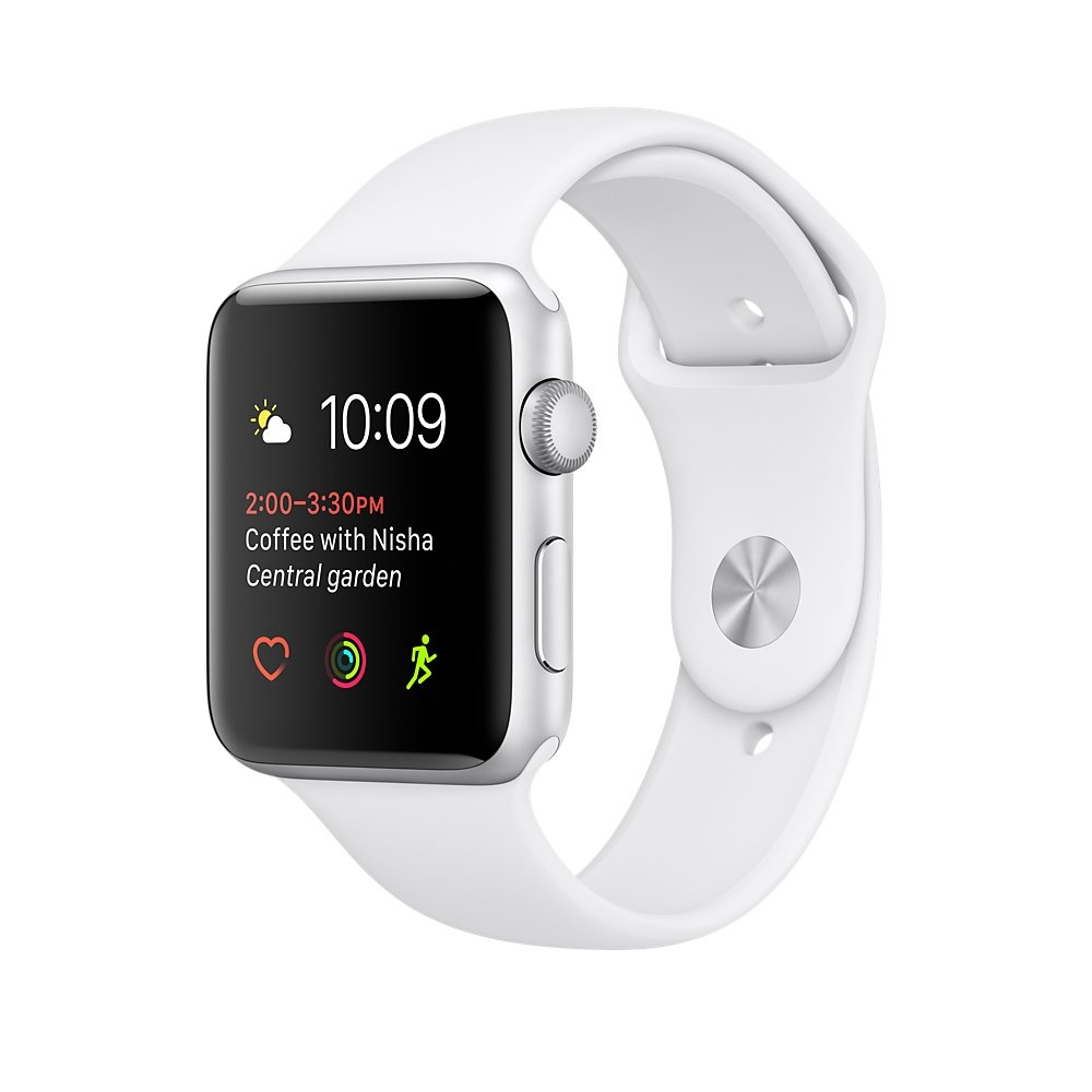 Apple Watch Series 2 42mm Aluminum Case with Sport Band(White)