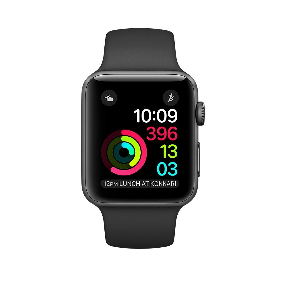Apple Watch Series 2 42mm Aluminum Case with Sport Band Gray